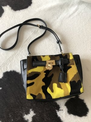 Michael kors Tasche Handtasche schwarz Army Look Gold Umhängetasche