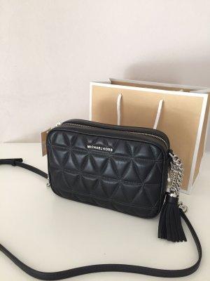 Michael Kors Crossbody bag black-silver-colored leather