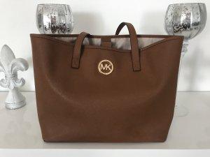 Michael Kors Tasche Jet Set Handtasche Braun Gold