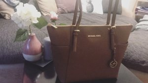 Michael Kors Shopper brun cuir