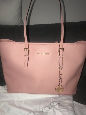 Michael Kors Shopper pink-gold-colored leather