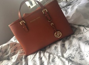 Michael Kors Carry Bag russet-cognac-coloured leather