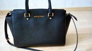 Michael Kors Tasche Leder schwarz gold