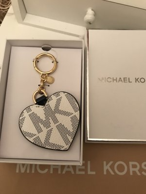 Michael Kors Portachiavi bianco-blu scuro Pelle