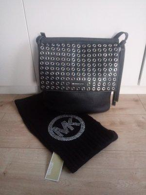 Michael Kors Bolso negro-color plata Cuero