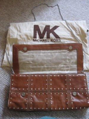 Michael Kors Crossbody bag brown-silver-colored leather