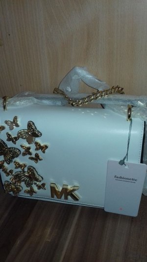 Michael Kors Handtas wit-goud Leer
