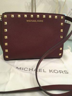 Michael Kors Bolso color oro-burdeos