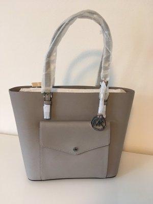 Michael kors Tasche neu grau Silber jet set item Blogger Fashion saffiano Leder