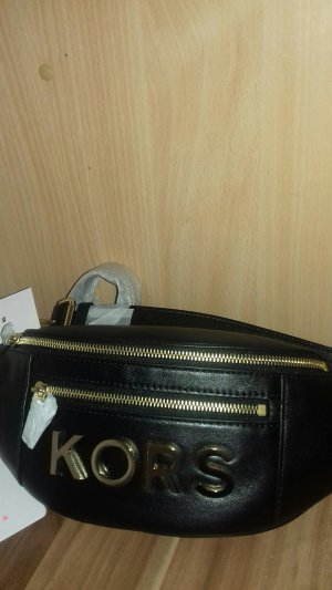 Michael Kors Handbag black-gold-colored leather
