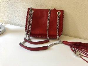 Michael Kors Tasche schultertasche rot bucket Umhängetasche kette crossbody Chelsea messenger bag whipped