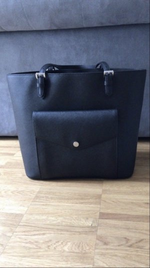 Michael Kors Tasche schwarz Black Silber Silver Jet Set Travel Fashion Handtasche handbag