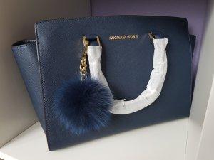 Michael Kors Tasche Selma Large Blau Navy + Pom