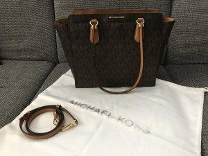 Michael Kors Tasche / Tote Bag mit Logo Monogram braun cognac