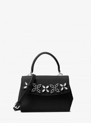 Michael Kors Crossbody bag black-silver-colored