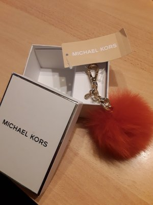 Porte-clés orange fluo pelage