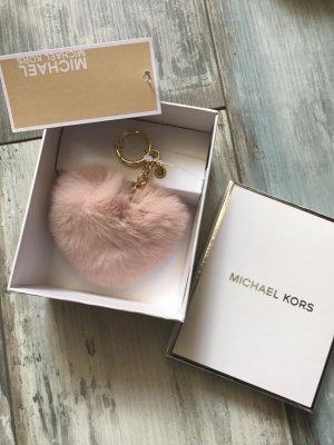 Michael kors Taschenanhänger in Echtfell als Herz in Rosa neu mit Etikett