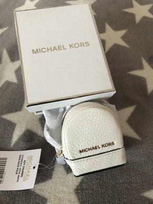 Michael Kors Taschenanhänger Leder in weiß neu mit Karton