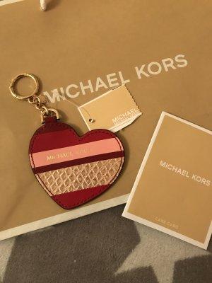 Michael Kors Porte-clés blanc cassé-rouge cuir