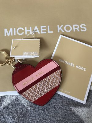 Michael Kors Llavero blanco puro-rojo