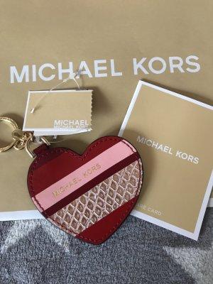 Michael Kors Portachiavi bianco sporco-rosso