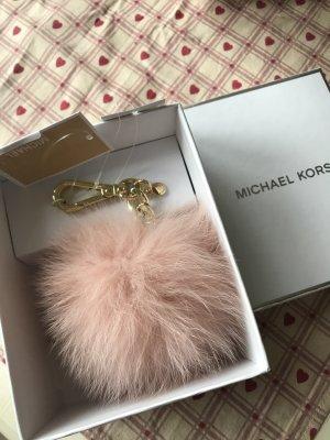 Michael Kors Taschenanhänger neu mit Etikett und Box 75€Echtfell Rosa