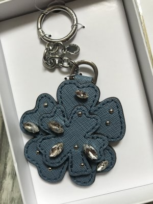 Michael Kors Key Chain azure-steel blue leather