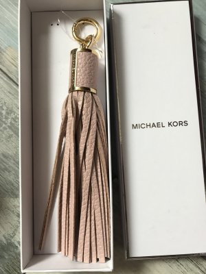 Michael Kors Taschenanhänger /Schlüsselanhänger Neu Rosa/Gold Leder