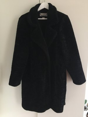 Michael Kors Fake Fur Coat black
