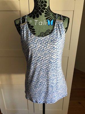 Michael Kors Top Shirt  HellBlau Weiss Silber   M 38 8