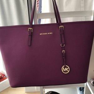 Michael Kors Bolso de compra violeta-color oro