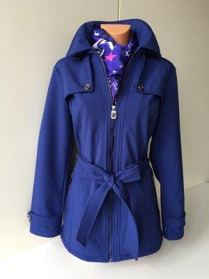 Michael Kors Trenchcoat Mantel Parka Jacket Halblangermantel Gr. L/40-42 blau