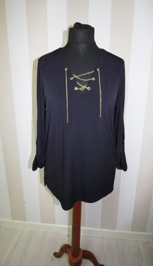 MICHAEL KORS TUNIKA SHIRT TOP KETTEN CHAIN DETAILS GR L