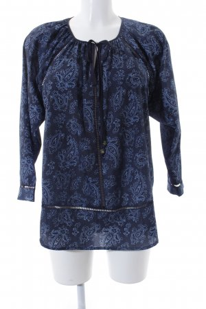Michael Kors Tunikabluse dunkelblau-himmelblau florales Muster Casual-Look