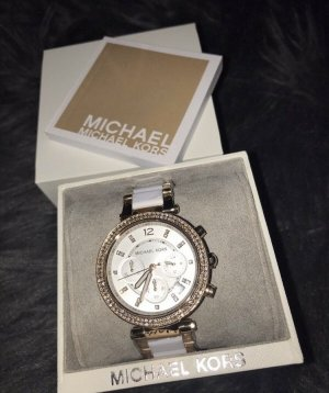 Michael Kors Watch With Metal Strap white-rose-gold-coloured