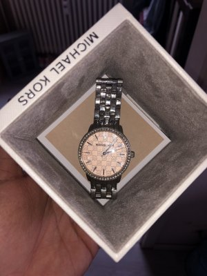 Michael Kors Self-Winding Watch rose-gold-coloured-silver-colored