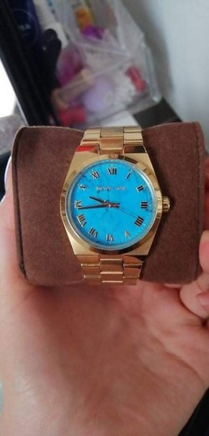 Self-Winding Watch gold-colored-blue