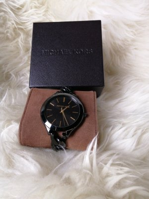 Michael Kors Watch With Metal Strap black-gold-colored