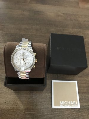 Michael Kors Analog Watch silver-colored-sand brown stainless steel
