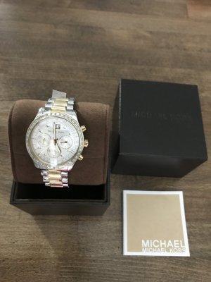 Michael Kors Reloj analógico color plata-marrón arena acero inoxidable