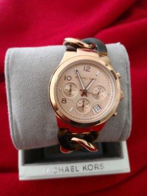 Michael Kors Orologio con cinturino di metallo color oro rosa