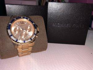 Michael Kors Horloge met metalen riempje goud-donkerblauw