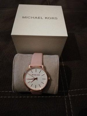 Michael Kors Orologio con cinturino di pelle color oro rosa