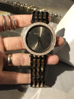 Michael Kors Watch With Metal Strap black-bronze-colored