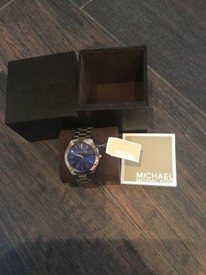 Michael Kors Uhr Bicolor- dunkelblaues Ziffernblatt —Neu