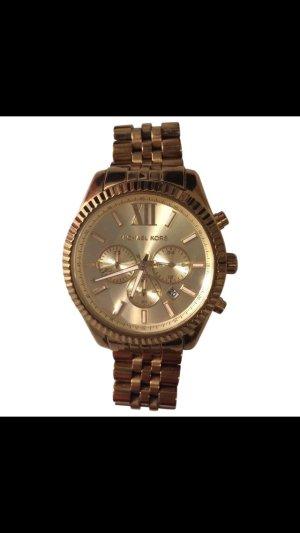 Michael Kors Uhr Chronograph, Gold, kaum getragen.
