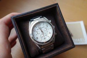 "Michael Kors Uhr Chronograph Modell ""Blair"" Edelstahl Silber mit Box + Rechnung!"