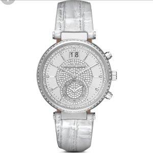 Michael Kors Uhr Damen Sawyer Silber/Grau UVP 329€