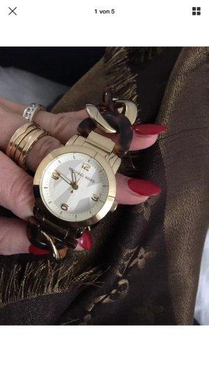 Michael Kors Uhr Damenuhr Armbanduhr braun Gold