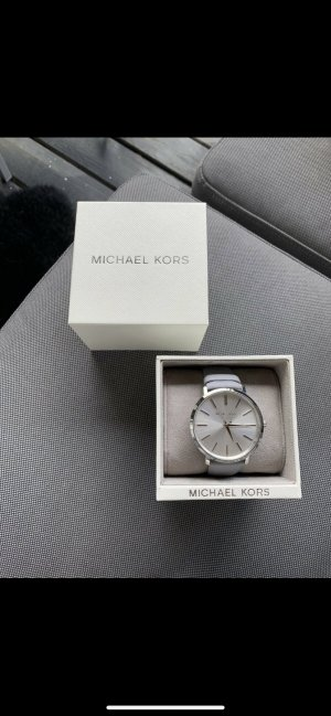 Michael Kors Uhr / Damenuhr / Silber / grau / Lederband